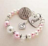 Personalized Goddaughter  Name  Bracelet - Boxed